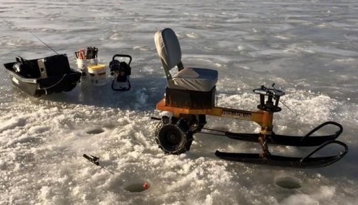 Ice Auger Machine: и колеса и лыжи.