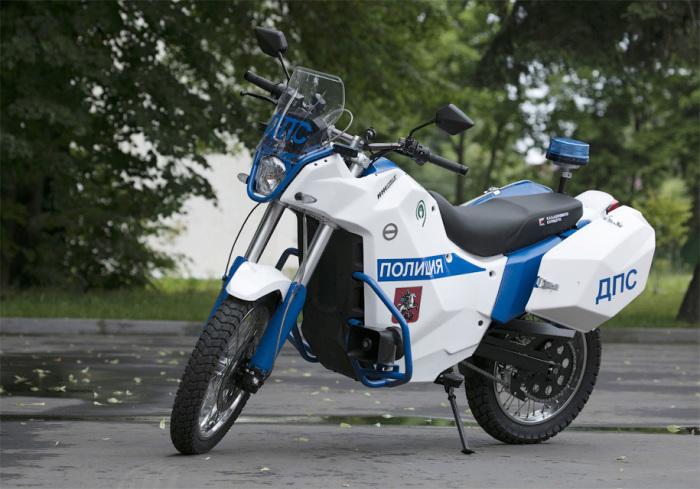 Мотоцикл Пульсар для полиции.