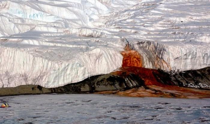 Невероятное природное явление: кровоточащий ледник.