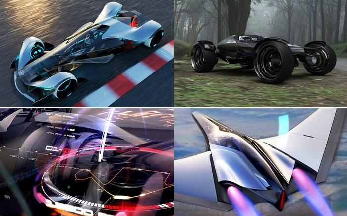 Гоночный суперкар-трансформер, который превращается в багги и самолёт.