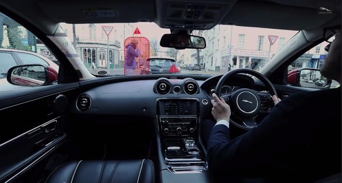 Эксперименты Jaguar: прозрачные стойки и фантомный проводник.
