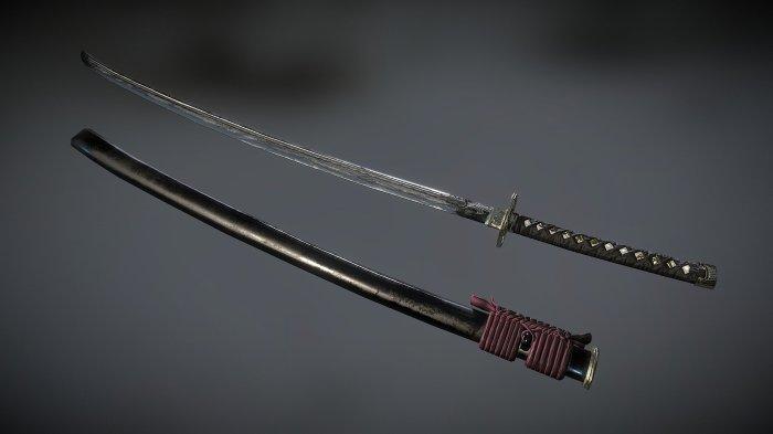 Символ самурайства. |Фото: sketchfab.com.