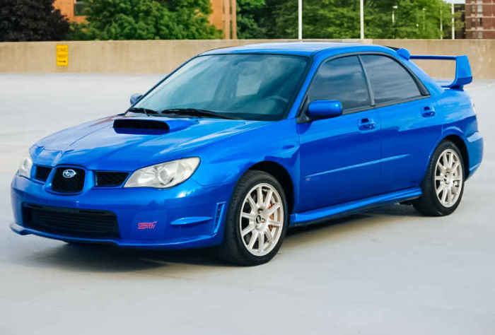 Subaru WRX STI - автомобиль для Европы.