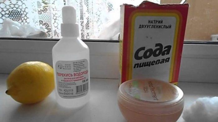 Помогут перекись и сода. |Фото: yandex.ru.