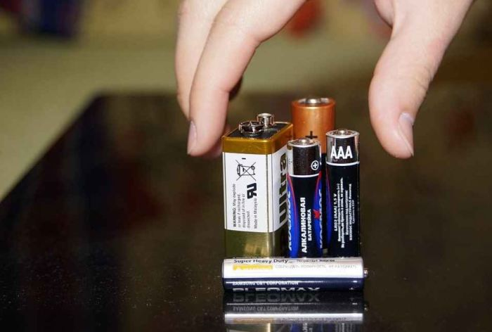 Поможет обычная батарейка. |Фото: lomonosovskiymedia.ru.