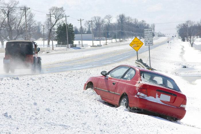 Занос автомобиля может кончиться очень плохо. |Фото: subscribe.ru.