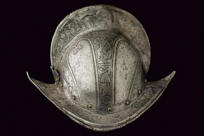 Пример пехотного шлема. Испанский морион. |Фото: livejournal.com.