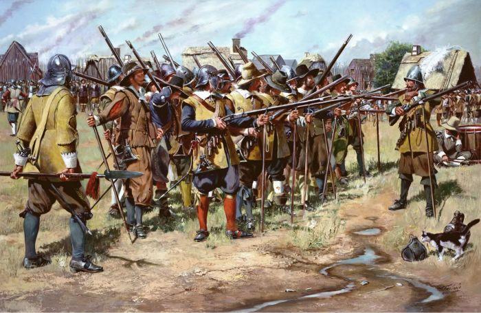Большое место в армии XVI века заняла пехота огневого боя. |Фото: pinterest.ru.