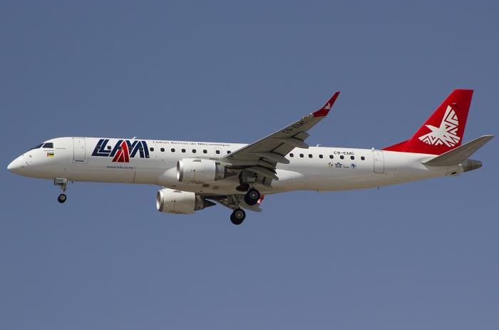 LAM Mozambique Airlines рейс 470 ещё в небе.