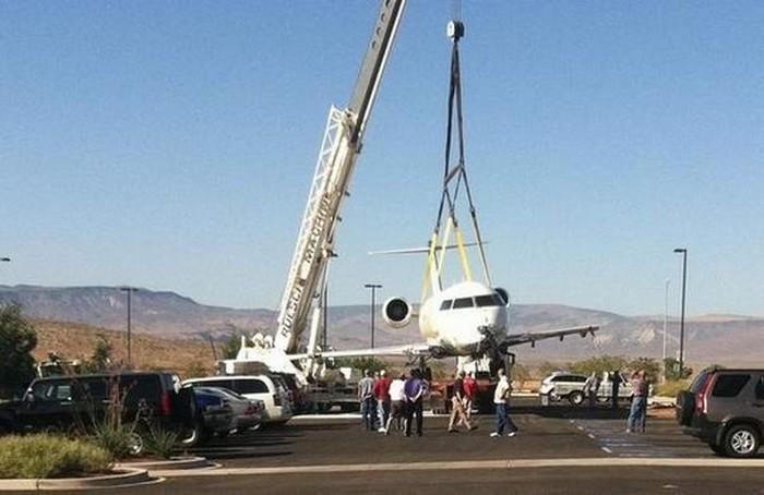 Ликвидация последствий аварии в аэропорту Сент-Джорджа.