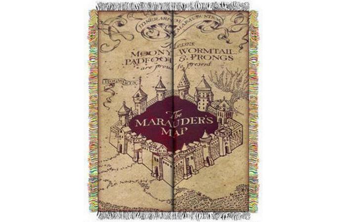Карта мародера из Гарри Поттера.