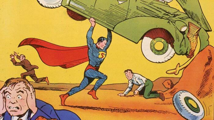 Первый номер о приключениях супермена. |Фото: lockerdome.com.