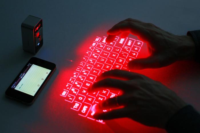 Виртуальная клавиатура и другие изобретения XXI века.