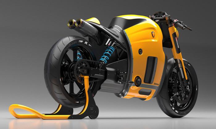 Мотоцикл Koenigsegg: фитуризм + ретро.