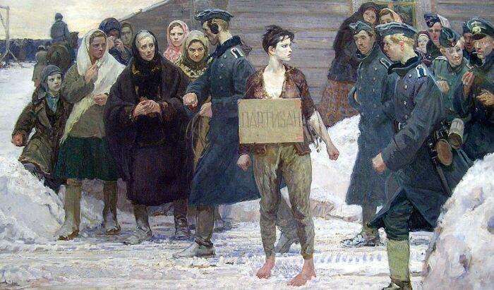 Партизаны не заслуживали никакой пощады со стороны нацистов. |Фото: ulmus-art.ru.