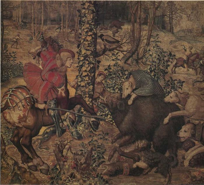 Картина из серии Охота Максимилиана. |Фото: В руке как раз Свиной меч. swordmaster.org.