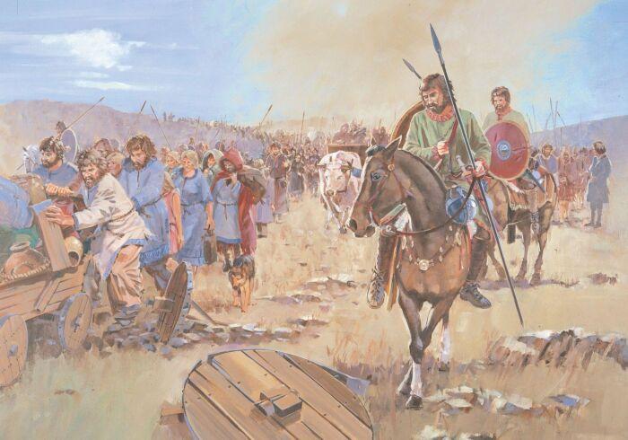 Начавшееся с бегства воинственных хуннов, великое переселение стало подобно лавине. |Фото: Pinterest.