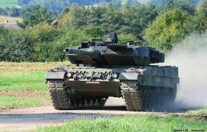 Новый немецкий основной танк.  Фото: avto.goodfon.ru.