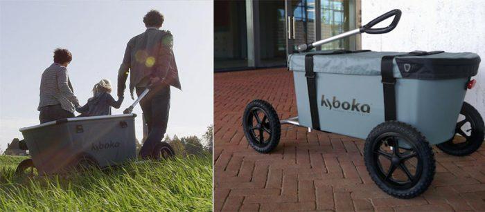 Тележка Kyboka - удобная альтернатива походному рюкзаку.