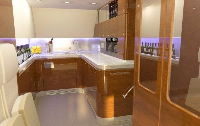 Кухня в президентском самолёте.