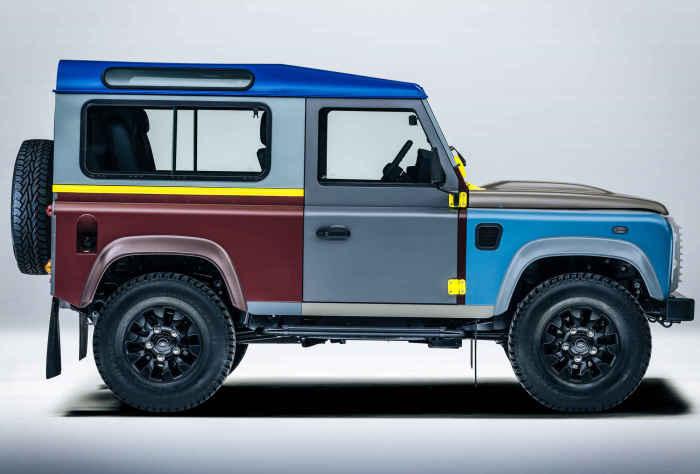 Technicolor Land Rover.
