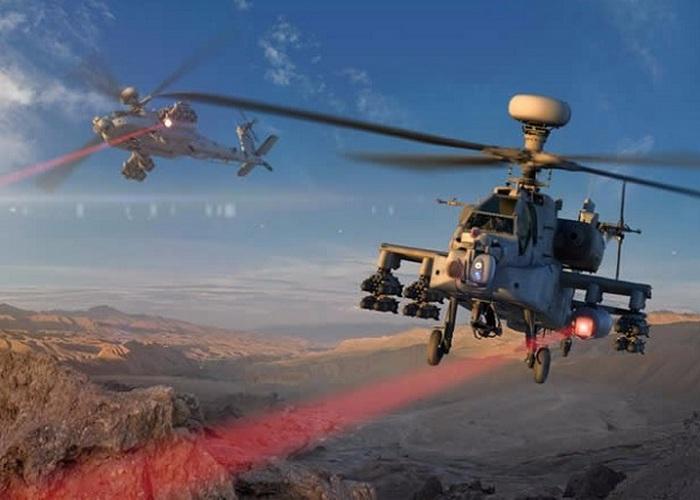Вертолеты ВВС США сбивают БПЛА лазерными пушками.