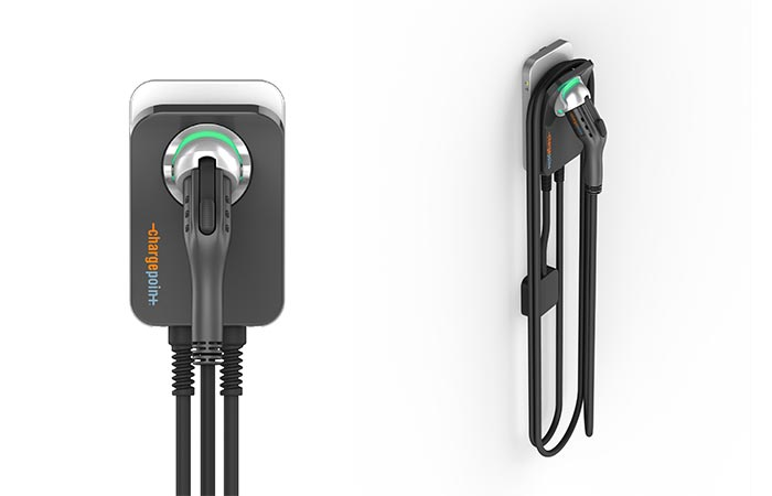 Зарядная станция ChargePoint Home Electric Vehicle Charger.