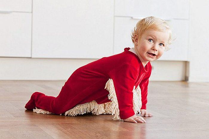 Костюм-швабра для малыша.