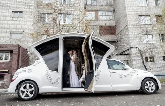 Свадебный лимузин от российских умельцев.