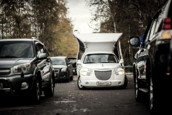 Лимузин-карета: незамеченным остаться невозможно.