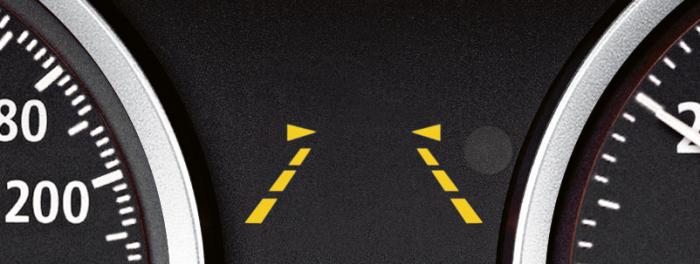 Предупреждение о смене полосы.