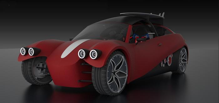 Спорткар на базе кабриолета Mazda Miata.