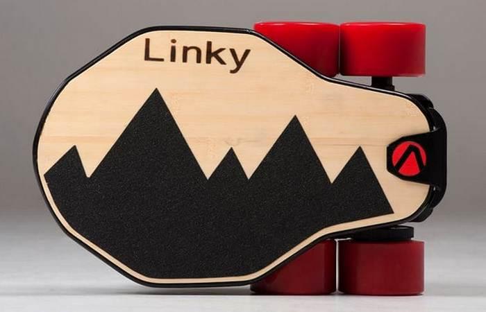 Складной электрический лонгборд Linky.