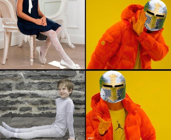 Если мамка заставляет надеть чулки, то просто представь что ты рыцарь. ¦Фото: novate.ru