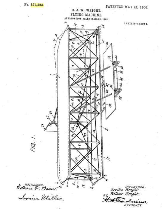 Утраченный патент братьев Райт.