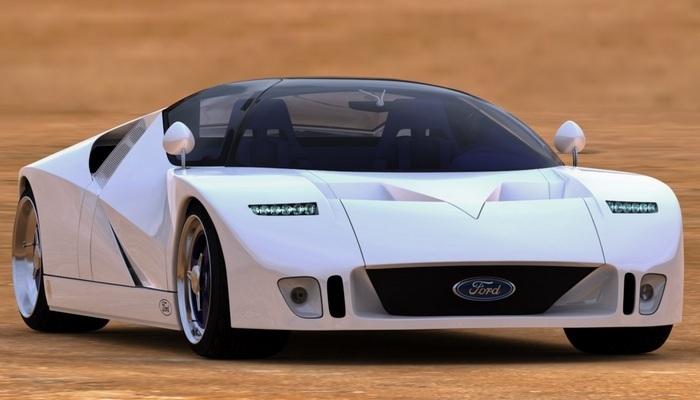 Автомобиль FORD GT90.