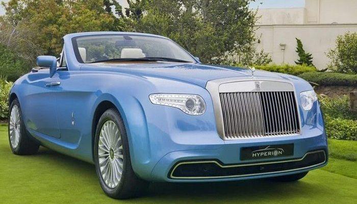 Автомобиль Rolls Royce Hyperion и другие роскошные эксклюзивные автомобили.