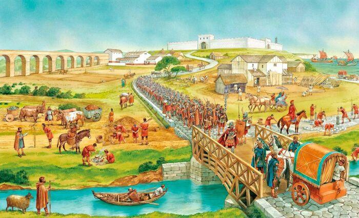 Во времена Александра Рим был лишь небольшим, ничем не примечательным полисом.  Фото: Pinterest.