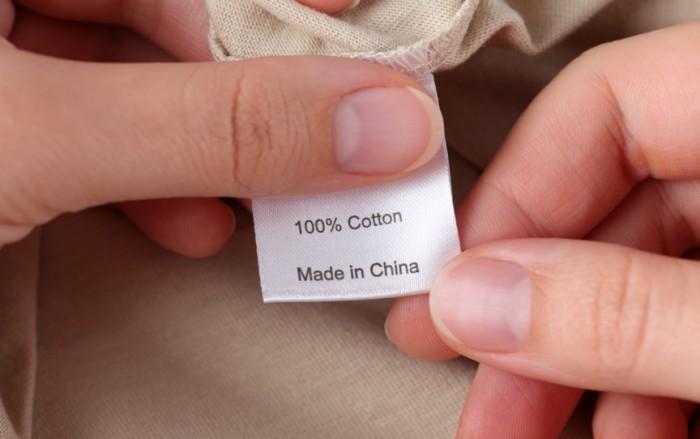 Вся брендовая одежда производится в Китае.