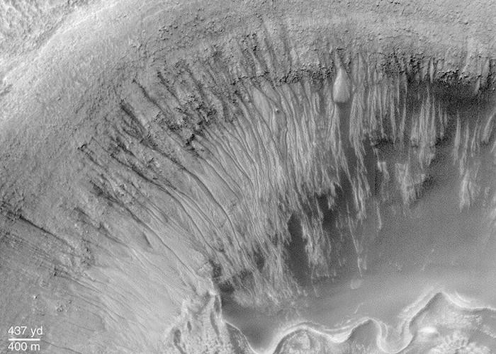 Первое свидетельство жидкой воды на Марсе.