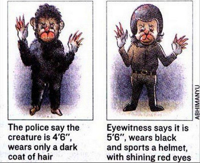 Массовая истерия: человек-обезьяна из Дели.
