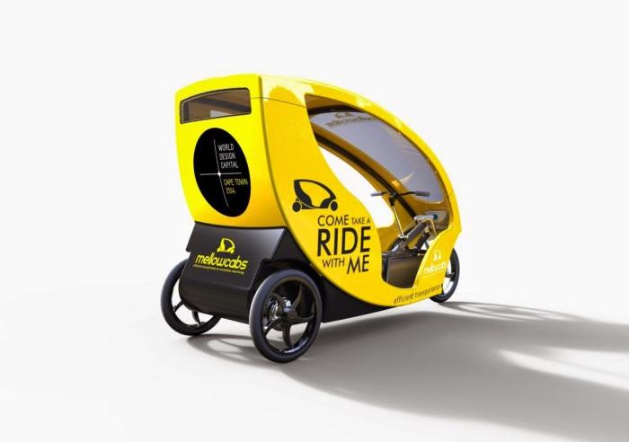 Открытый педальный трицикл Mellowcabs.