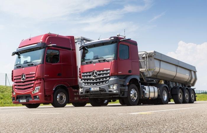 Инновационный грузовик Mercedes без зеркал.