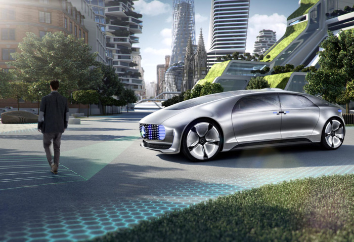 Автомобиль, помогающий пешеходам.
