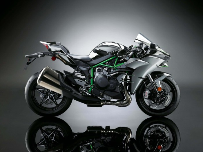 Kawasaki Supercharged H2 roadbike.