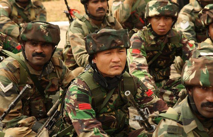 Армия Индонезии.