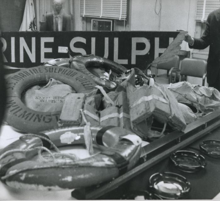 Всё, что осталось от SS Marine Sulphur Queen.