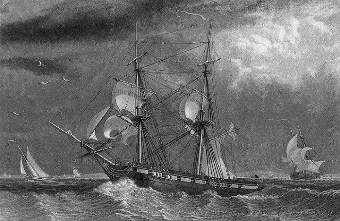 USS Porpoise – погибший в тайфуне.