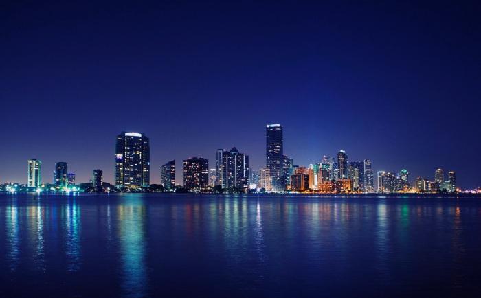 Огни ночного Майами.