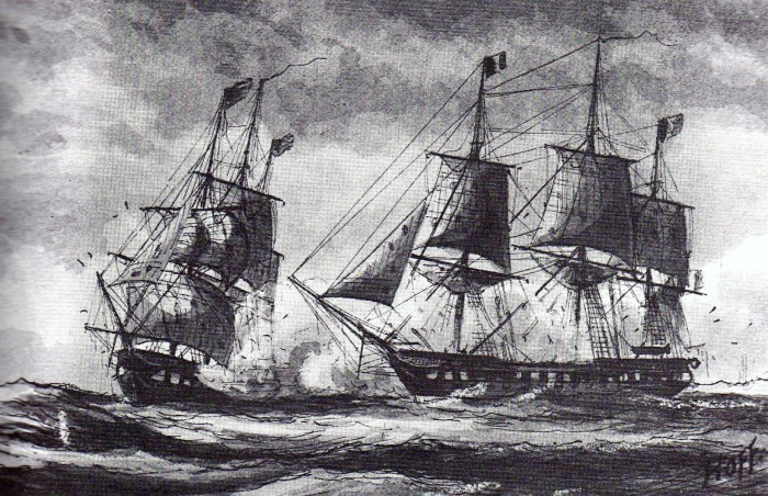 Боевой корабль USS Insurgent.